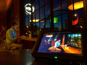 Monitoring and adjusting lighting changes on set produces beautiful full service video production.