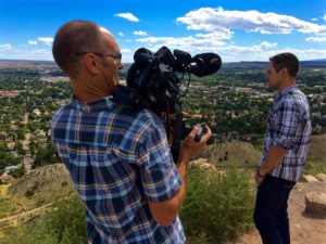 Inception Collaborator Tom Hoch, Jr. of milehighhouse Productions at work in Canon City, Colorado filming our docu-reality series pilot for StartupStory (2016)
