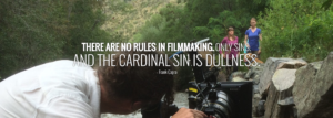 There are no rules in filmmaking. www.milehighhouse.com